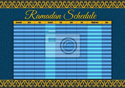Calendrier Traduction.Image Calendrier Du Ramadan Calendrier Le Jeune Liftar Et La Priere