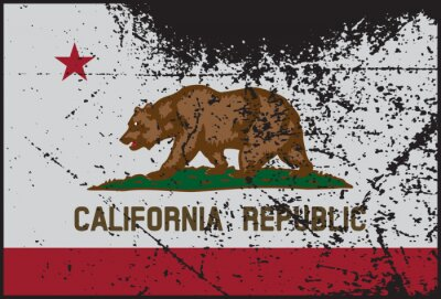 Image California Flag Grunged