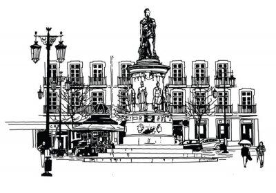 Image Camoes square à lisbonne