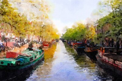 Image Canal d'Amsterdam