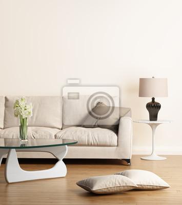 Image Canape Beige Moderne Dans Un Salon Contemporain