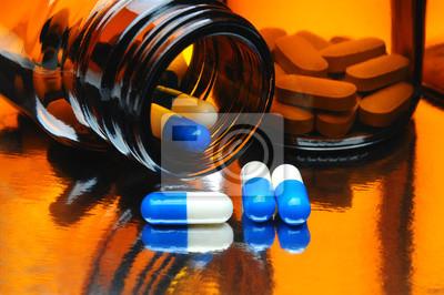 Capsules et bouteilles Médecine