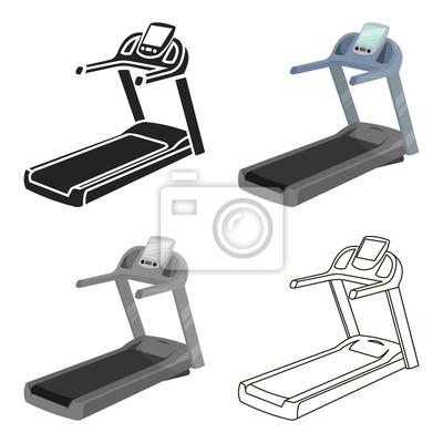 Caricature Dicone Tapis Roulant Icone De Sport Unique De La Peintures Murales Tableaux Tapis Roulant Le Jogging Cardio Myloview Fr