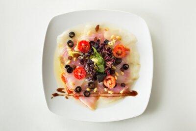 Image Carpaccio de morue salade