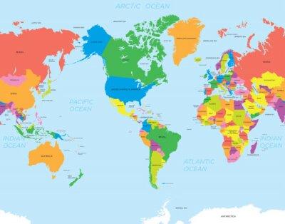 Image Carte américaine monde