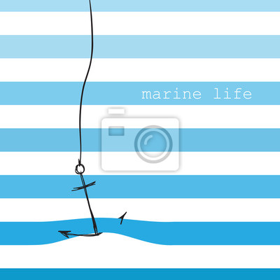Carte avec des rayures marines