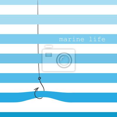Carte avec rayures marines