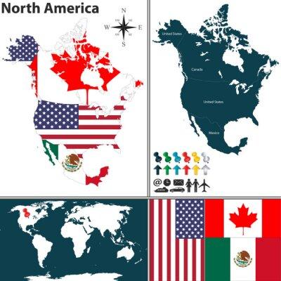 Image Carte de l'Amérique du Nord