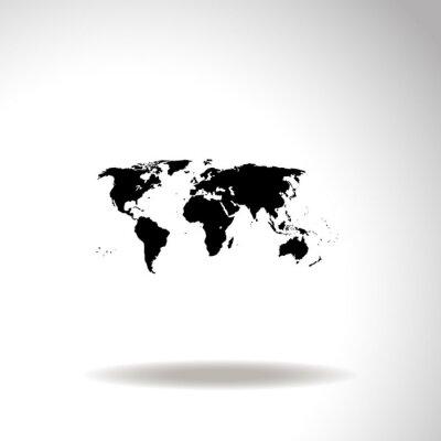 Image Carte de l'icône du monde vecteur.