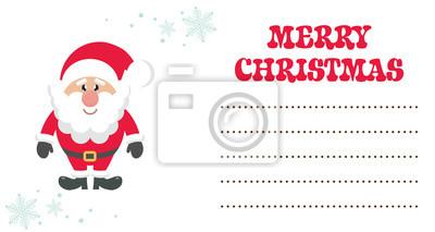 Image Carte De Noël De Dessin Animé Mignon Père Noël