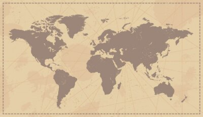 Image Carte de Vieux Monde vintage