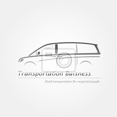 Image Carte De Visite Avec Minifourgonnette Logo Dentreprise