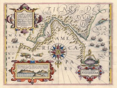 Image Carte du détroit de Magellan