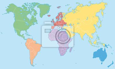 Carte Du Monde Continents.Image Carte Du Monde Continents