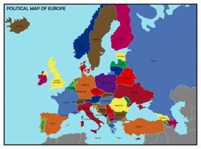 Image Carte politique de l'Europe