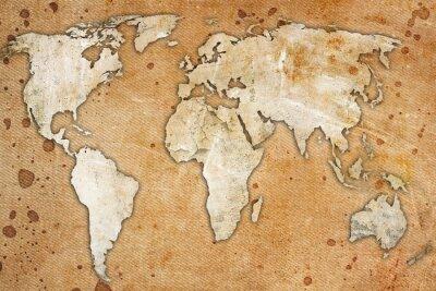 Image carte vintage du monde