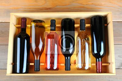 Cas des bouteilles de vin assortis