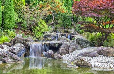 Image Cascade cascade dans le jardin japonais à Bonn