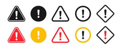 Image Caution signs. Symbols danger and warning signs.
