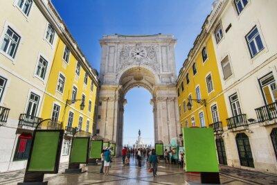Image célèbre arche de la rue Augusta situé à Lisbonne