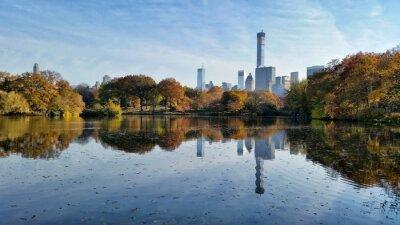 Image Central, parc, chute, paysage, reflet, nouveau, york, ville