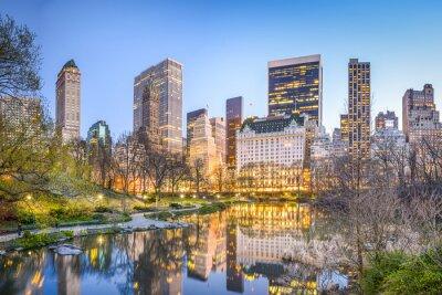 Image Central Park de New York au crépuscule