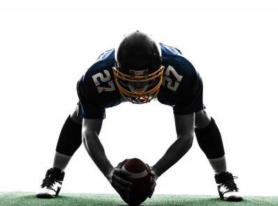 Image Centre joueur de football américain man silhouette