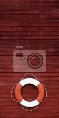 Cercle rouge et blanc de délivrance