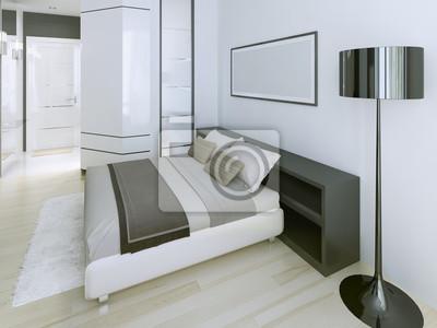 Image: Chambre moderne dans appartement de luxe