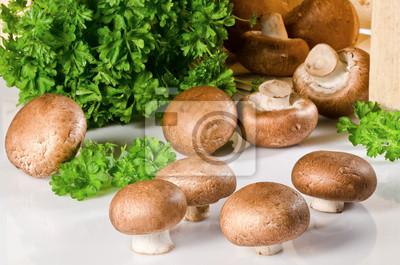 champignons avec le persil