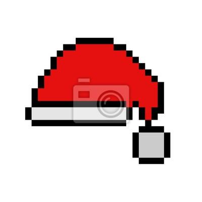 Image Chapeau De Noël Pixel Art