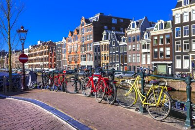 Image charming Amsterdam. canals and bikes