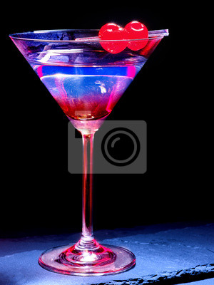 Cherry cocktail  on black background 49