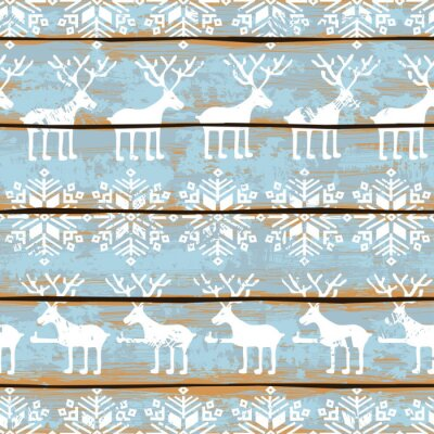 Image Christmas seamless cerfs et flocons de neige