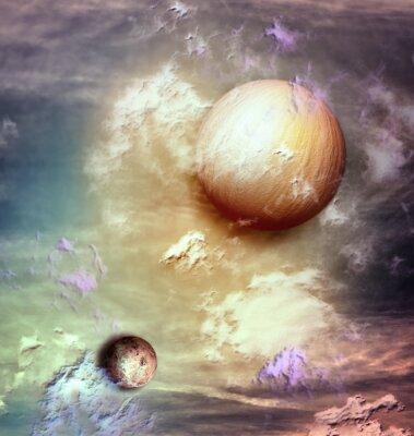 Image Ciel avec des planètes