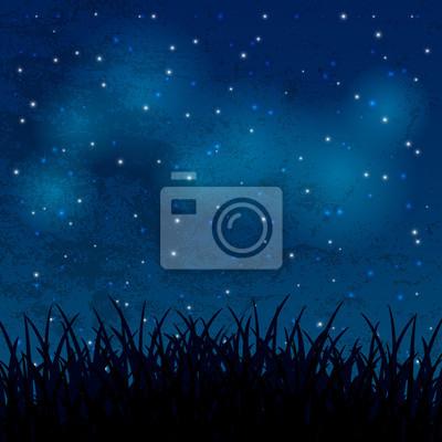 Ciel de nuit avec les étoiles brillantes