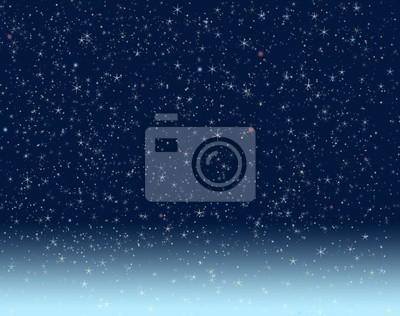 Ciel de nuit parsemé d'étoiles