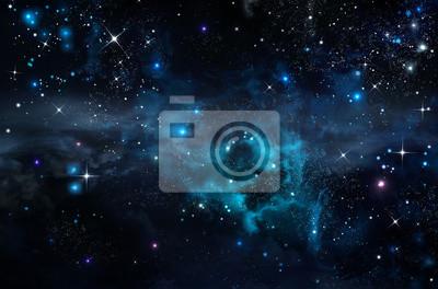 ciel étoilé dans l'espace ouvert