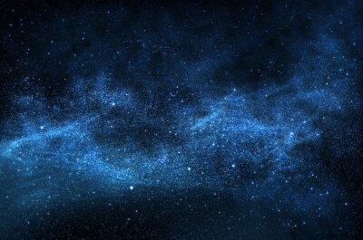 Image Ciel nocturne avec des étoiles et des planètes mousseux, illustration