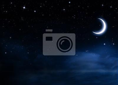 Ciel nocturne avec les étoiles
