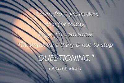 Image Citation par Albert Einstein fond.