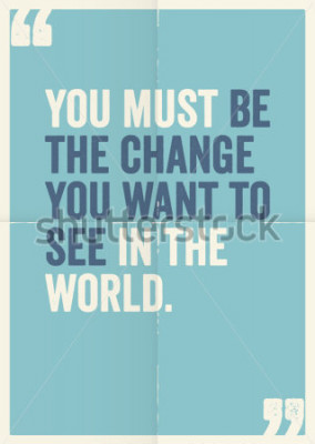 Image Citations de motivation inspirations de Mahatma Gandhi, sur fond d'affiches.
