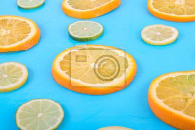 Citrus sur fond clair. Texture