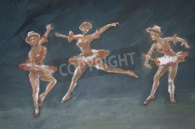 Image Classique, femme, ballet, danseurs, art, Illustration