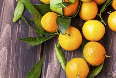 Clémentines, citrus, tas, vue haut