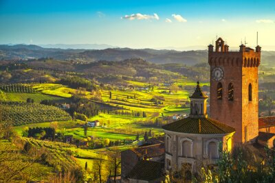 Image Clocher de San Miniato de la cathédrale. Pise, Toscane Italie Europe.