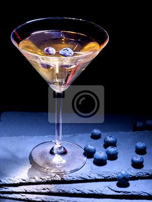 Cocktail Blueberry sur fond noir 52