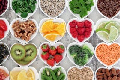 Image Coeur des aliments sains