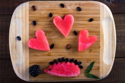 Coeur et hérisson de pastèque,