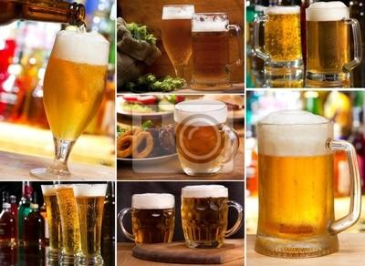 collage avec des verres de bière
